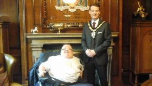 Cllr Rhys Lewis, Mayor of Rhondda Cynon Taff and Founder Richard Jones
