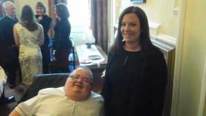 Accessible News founder Richard Jones with Cynon Valley Assembly Member Vikki Howells