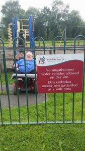 No unauthorised motor vehicles they say!