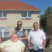 Simonn Pritchard (RCT), Cllr Helen Boggis, Kevin (a Penywaun resident)) and Richard Jones