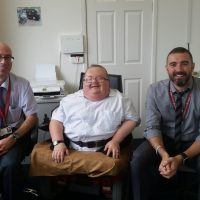 Founder Richard Jones pictured with Lee Morgan and Mathew Dando from RCT Taxi Licensing