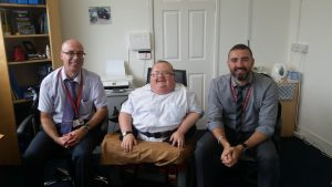 Pictured with Lee Morgan and Mathew Dando from RCT Taxi Licensing