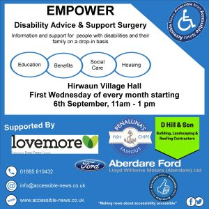 Information on Empower Disability Advice and Support Surgery