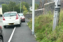 Pavements blocked by people parking in an inconsiderate manner on Depot Road in Aberdare