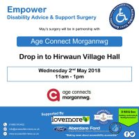 Empower advice and information surgery with Age Connect Morgannwg