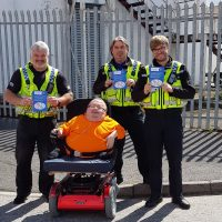 South Wales Police Officers meeting with founder Richard Jones