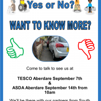 Come and see us at Tesco and Asda Aberdare